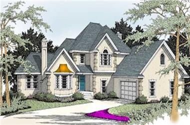 4-Bedroom, 2406 Sq Ft French House Plan - 119-1062 - Front Exterior