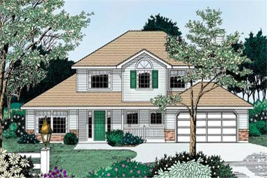 4-Bedroom, 2185 Sq Ft Contemporary House Plan - 119-1063 - Front Exterior