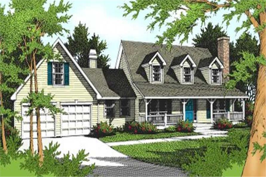 3-Bedroom, 2363 Sq Ft Country House Plan - 119-1066 - Front Exterior