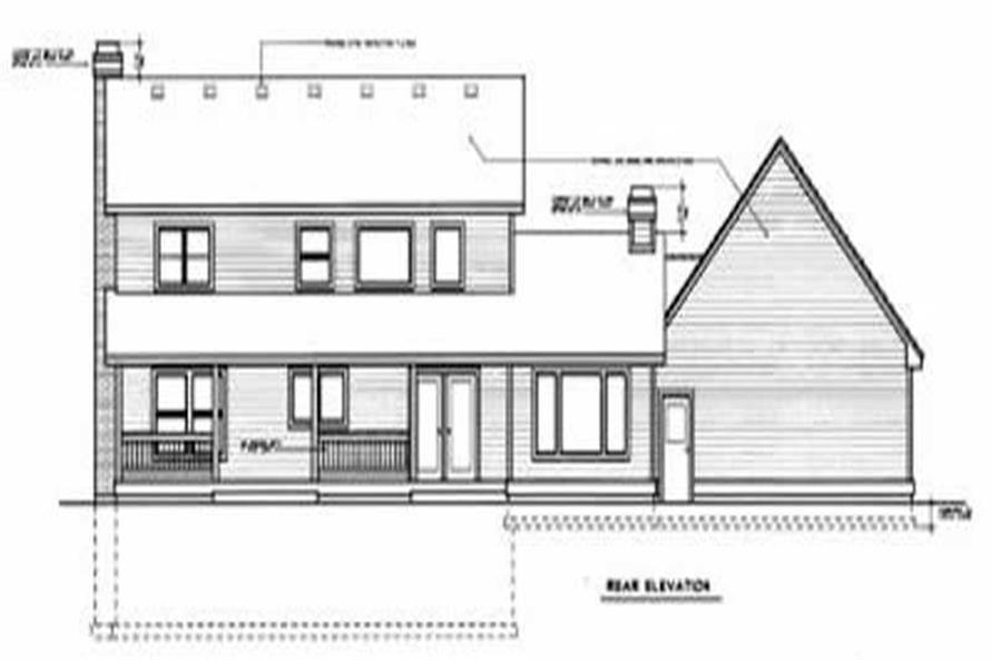 Home Plan Rear Elevation of this 3-Bedroom,2363 Sq Ft Plan -119-1066