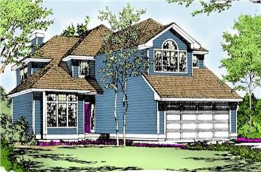 3-Bedroom, 2285 Sq Ft Contemporary House Plan - 119-1067 - Front Exterior