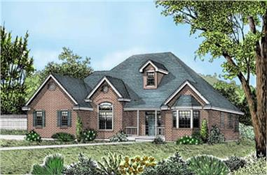 3-Bedroom, 2200 Sq Ft Contemporary House Plan - 119-1069 - Front Exterior