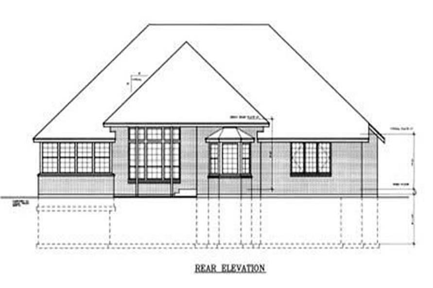 Home Plan Rear Elevation of this 3-Bedroom,2200 Sq Ft Plan -119-1069