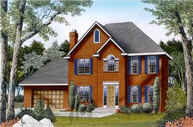 3-Bedroom, 2052 Sq Ft Contemporary House Plan - 119-1072 - Front Exterior