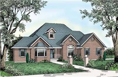 4-Bedroom, 2331 Sq Ft Contemporary House Plan - 119-1073 - Front Exterior