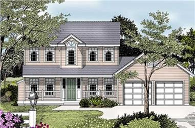 3-Bedroom, 1676 Sq Ft Country House Plan - 119-1074 - Front Exterior
