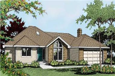 3-Bedroom, 1871 Sq Ft Ranch House Plan - 119-1075 - Front Exterior
