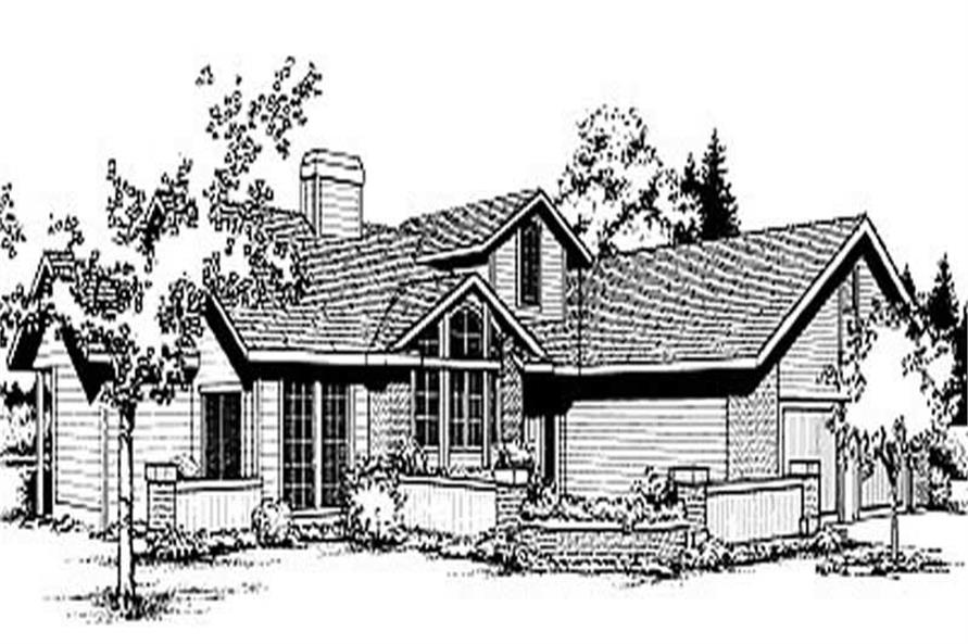 3-Bedroom, 1658 Sq Ft Contemporary House Plan - 119-1077 - Front Exterior
