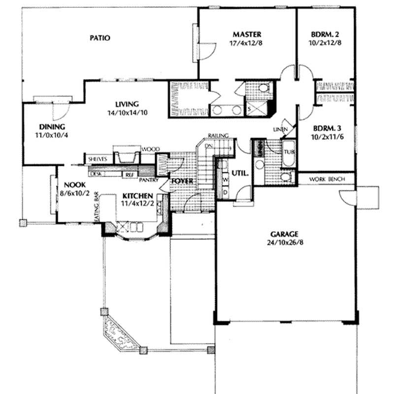 Contemporary traditional ranch house plans home design for 1077 marinaside crescent floor plan