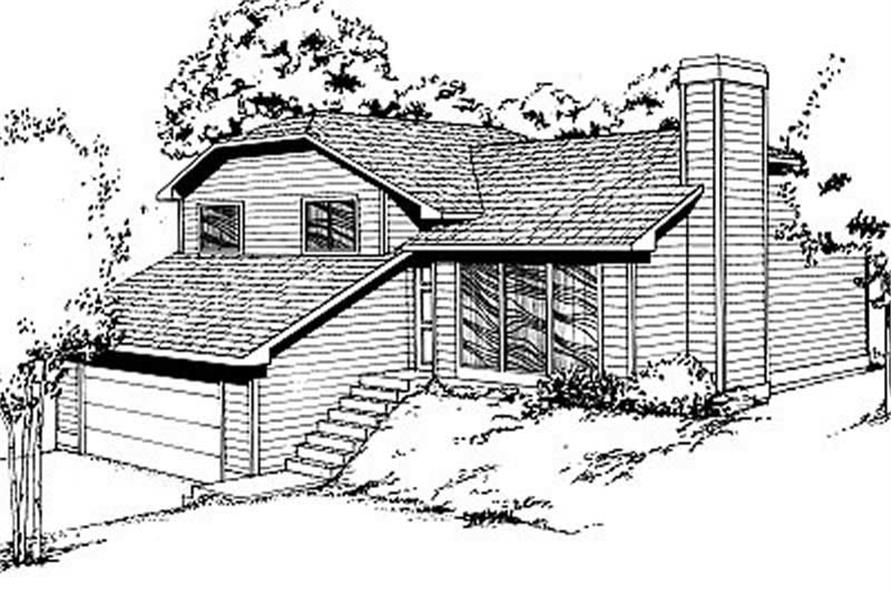 3-Bedroom, 1112 Sq Ft Contemporary House Plan - 119-1078 - Front Exterior
