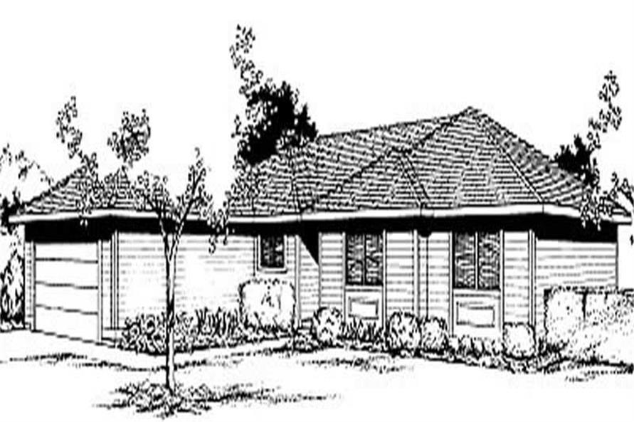 3-Bedroom, 1424 Sq Ft Contemporary House Plan - 119-1081 - Front Exterior