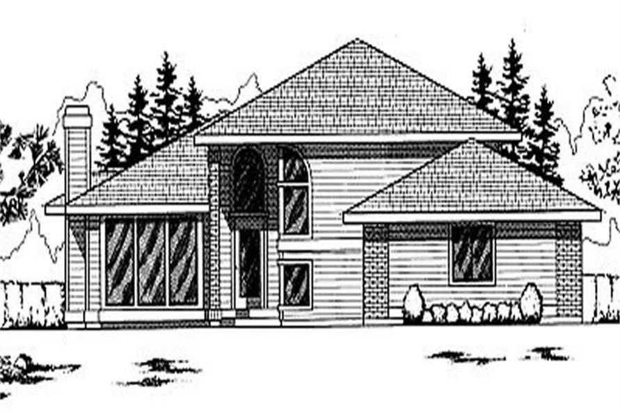 3-Bedroom, 1264 Sq Ft Ranch House Plan - 119-1083 - Front Exterior