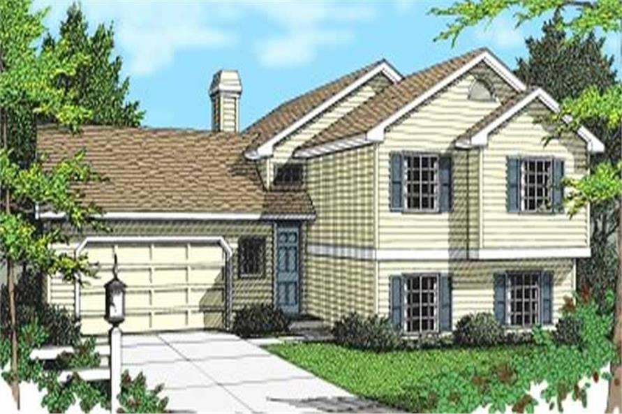 2-Bedroom, 1126 Sq Ft Multi-Level House Plan - 119-1085 - Front Exterior