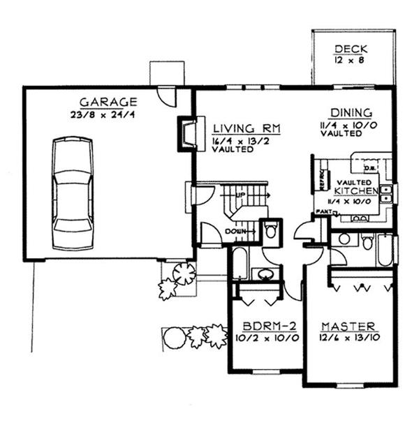 Small traditional multi level house plans home design for Multi level floor plans
