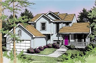 3-Bedroom, 1637 Sq Ft Contemporary House Plan - 119-1088 - Front Exterior