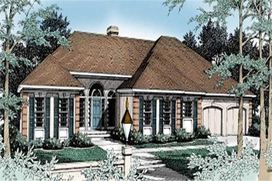 4-Bedroom, 2563 Sq Ft Contemporary House Plan - 119-1089 - Front Exterior