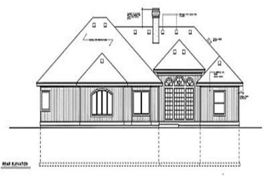Home Plan Rear Elevation of this 4-Bedroom,2563 Sq Ft Plan -119-1089