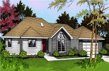 3-Bedroom, 2159 Sq Ft Ranch House Plan - 119-1090 - Front Exterior