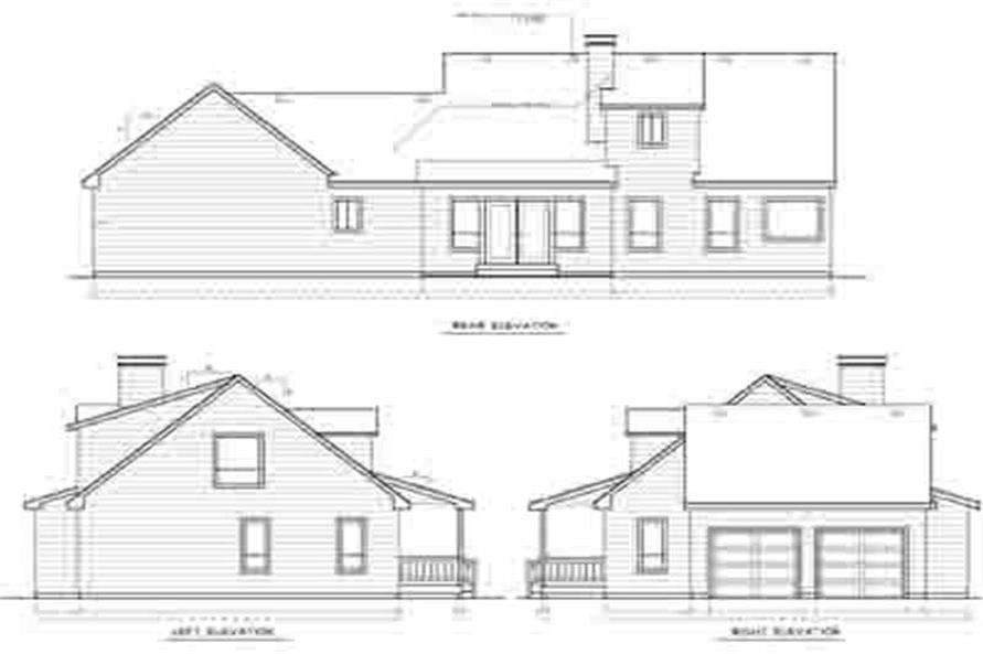 Home Plan Rear Elevation of this 3-Bedroom,1992 Sq Ft Plan -119-1091