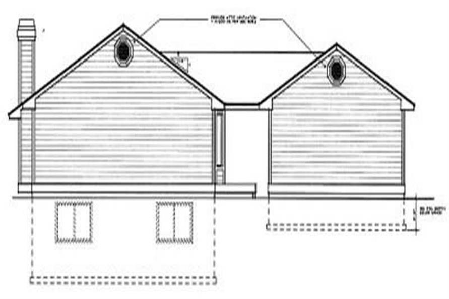 Home Plan Rear Elevation of this 3-Bedroom,1304 Sq Ft Plan -119-1094