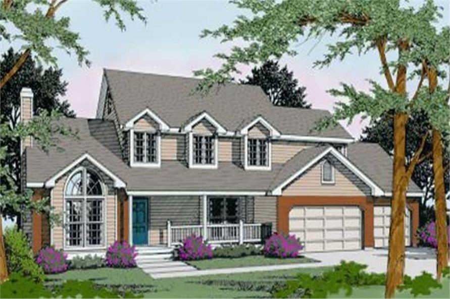 3-Bedroom, 2646 Sq Ft Country House Plan - 119-1096 - Front Exterior