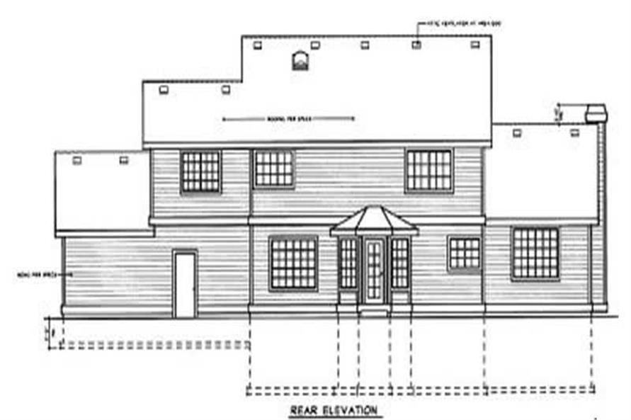 Home Plan Rear Elevation of this 3-Bedroom,2646 Sq Ft Plan -119-1096