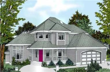 4-Bedroom, 2534 Sq Ft Contemporary House Plan - 119-1098 - Front Exterior