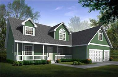 4-Bedroom, 2504 Sq Ft Country House Plan - 119-1099 - Front Exterior