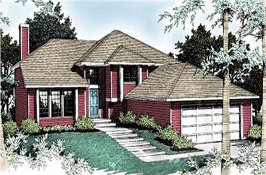 5-Bedroom, 1364 Sq Ft Prairie House Plan - 119-1101 - Front Exterior