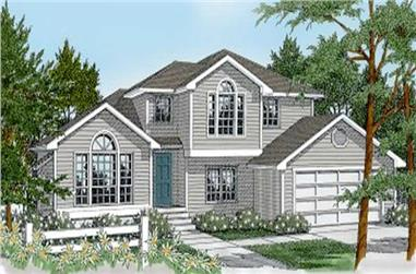 3-Bedroom, 1872 Sq Ft Contemporary House Plan - 119-1102 - Front Exterior