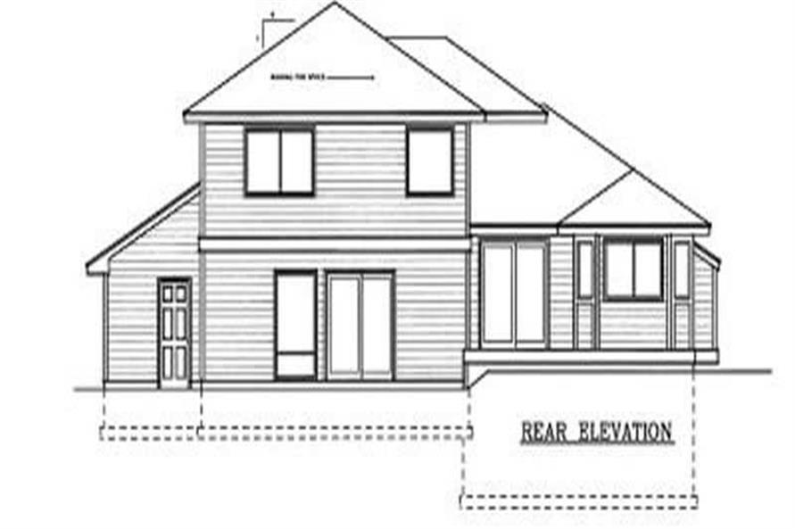 Home Plan Rear Elevation of this 3-Bedroom,1872 Sq Ft Plan -119-1102