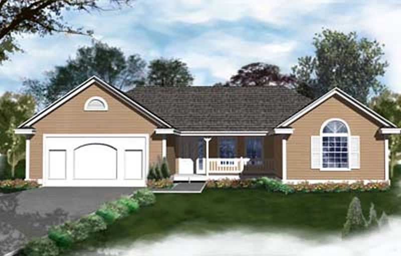 Small Transitional Ranch House Plans Home Design Ddi93 106 1988