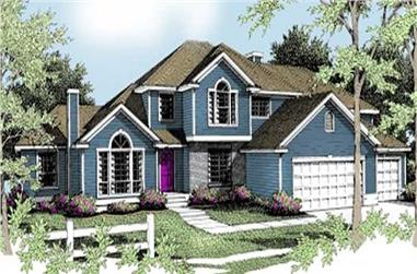 4-Bedroom, 2845 Sq Ft Traditional House Plan - 119-1104 - Front Exterior