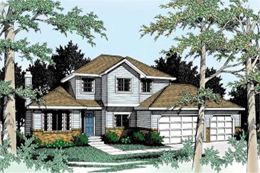 3-Bedroom, 1922 Sq Ft Traditional House Plan - 119-1107 - Front Exterior