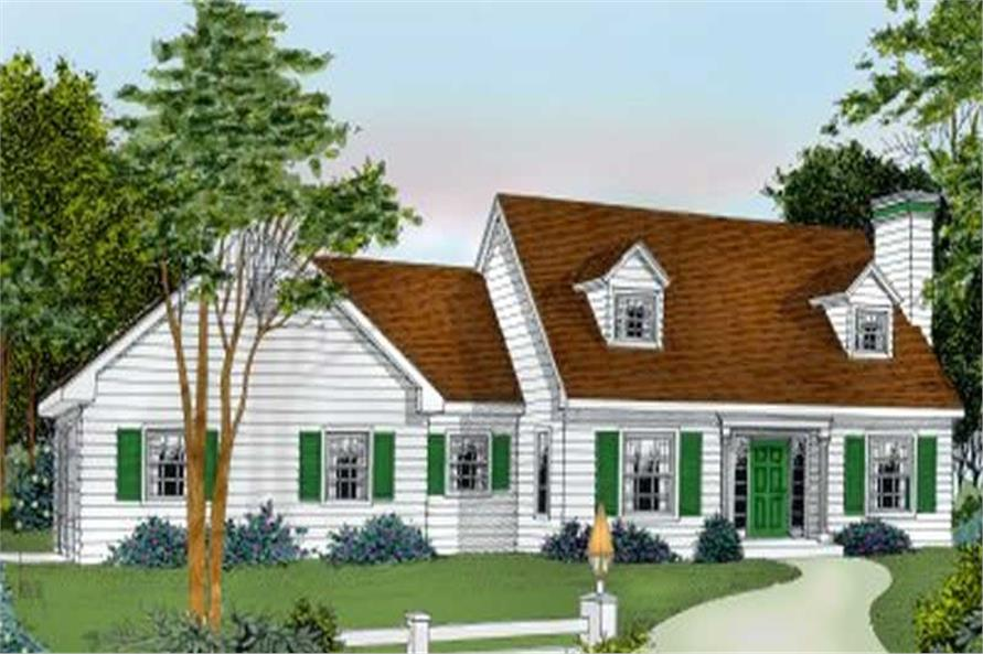 3-Bedroom, 1762 Sq Ft Country House Plan - 119-1110 - Front Exterior