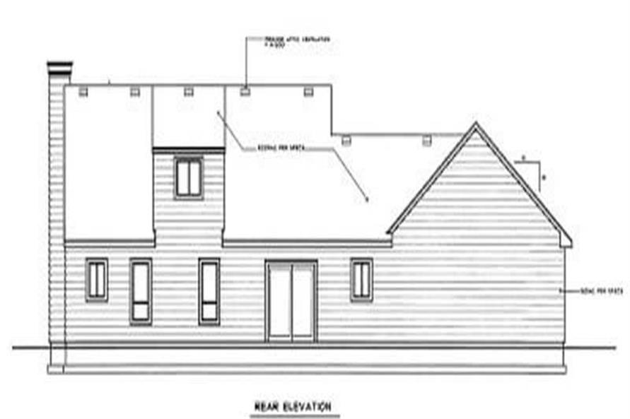 Home Plan Rear Elevation of this 3-Bedroom,1762 Sq Ft Plan -119-1110