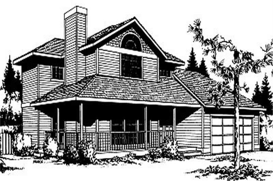 3-Bedroom, 1665 Sq Ft Contemporary House Plan - 119-1111 - Front Exterior