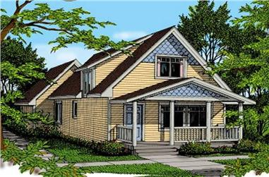 3-Bedroom, 1251 Sq Ft Country House Plan - 119-1112 - Front Exterior