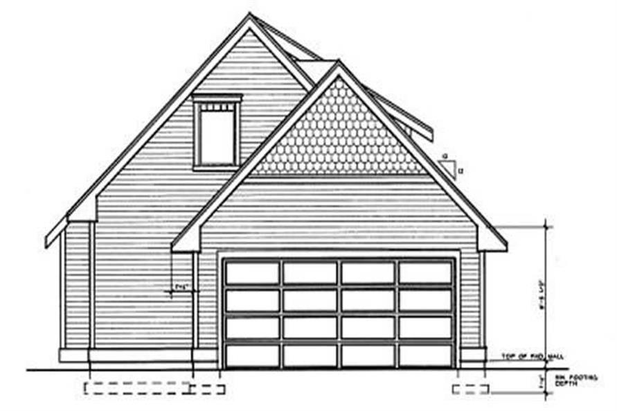 Home Plan Rear Elevation of this 3-Bedroom,1251 Sq Ft Plan -119-1112