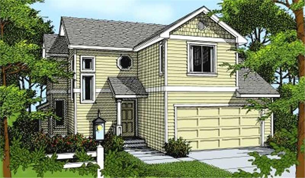 Front elevation of Small House Plans home (ThePlanCollection: House Plan #119-1114)