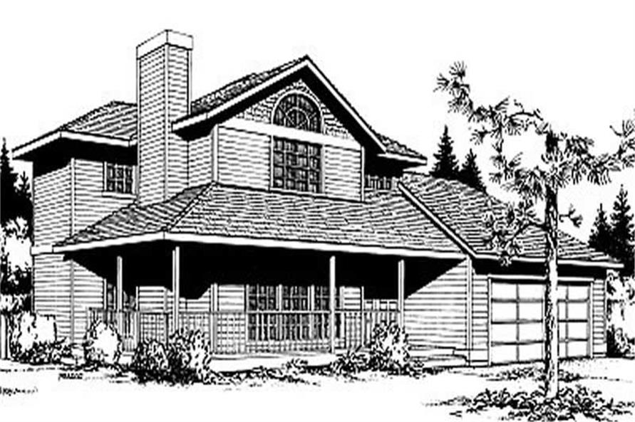 3-Bedroom, 1467 Sq Ft Country House Plan - 119-1115 - Front Exterior