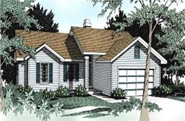 3-Bedroom, 1428 Sq Ft Ranch House Plan - 119-1116 - Front Exterior