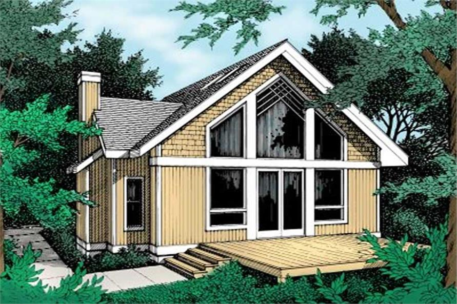 1-Bedroom, 1426 Sq Ft Country House Plan - 119-1117 - Front Exterior