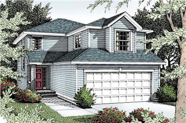 3-Bedroom, 1398 Sq Ft Small House Plans - 119-1118 - Front Exterior