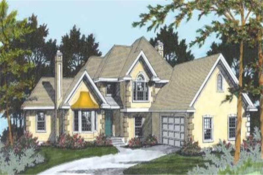 4-Bedroom, 2041 Sq Ft French House Plan - 119-1120 - Front Exterior