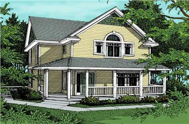 4-Bedroom, 1649 Sq Ft Country House Plan - 119-1121 - Front Exterior