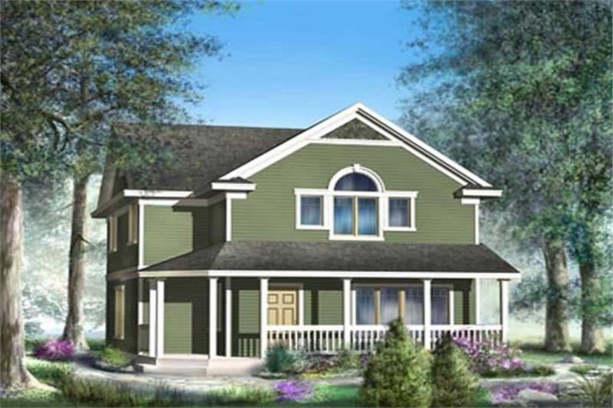 Front Elevation of this 4-Bedroom,1649 Sq Ft Plan -1649