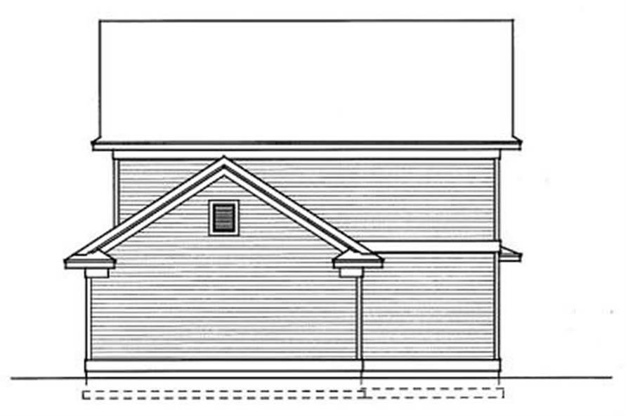 Home Plan Rear Elevation of this 4-Bedroom,1649 Sq Ft Plan -119-1121