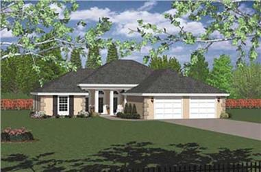 3-Bedroom, 1785 Sq Ft Contemporary House Plan - 119-1124 - Front Exterior