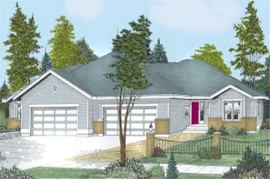 3-Bedroom, 1768 Sq Ft Multi-Unit House Plan - 119-1125 - Front Exterior